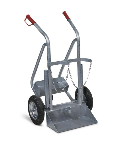 Gas Cylinder Trolley With Stabiliser Wheel
